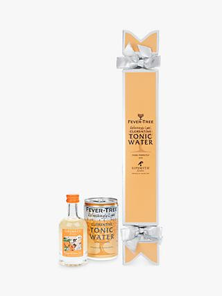 Fever-Tree Sipsmith Orange & Cacao Gin and Refreshingly Light Clementine Tonic Water Cracker, 5cl & 150ml