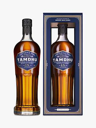 Tamdhu Speyside Single Malt 15 Year Old Scotch Whisky, 70cl