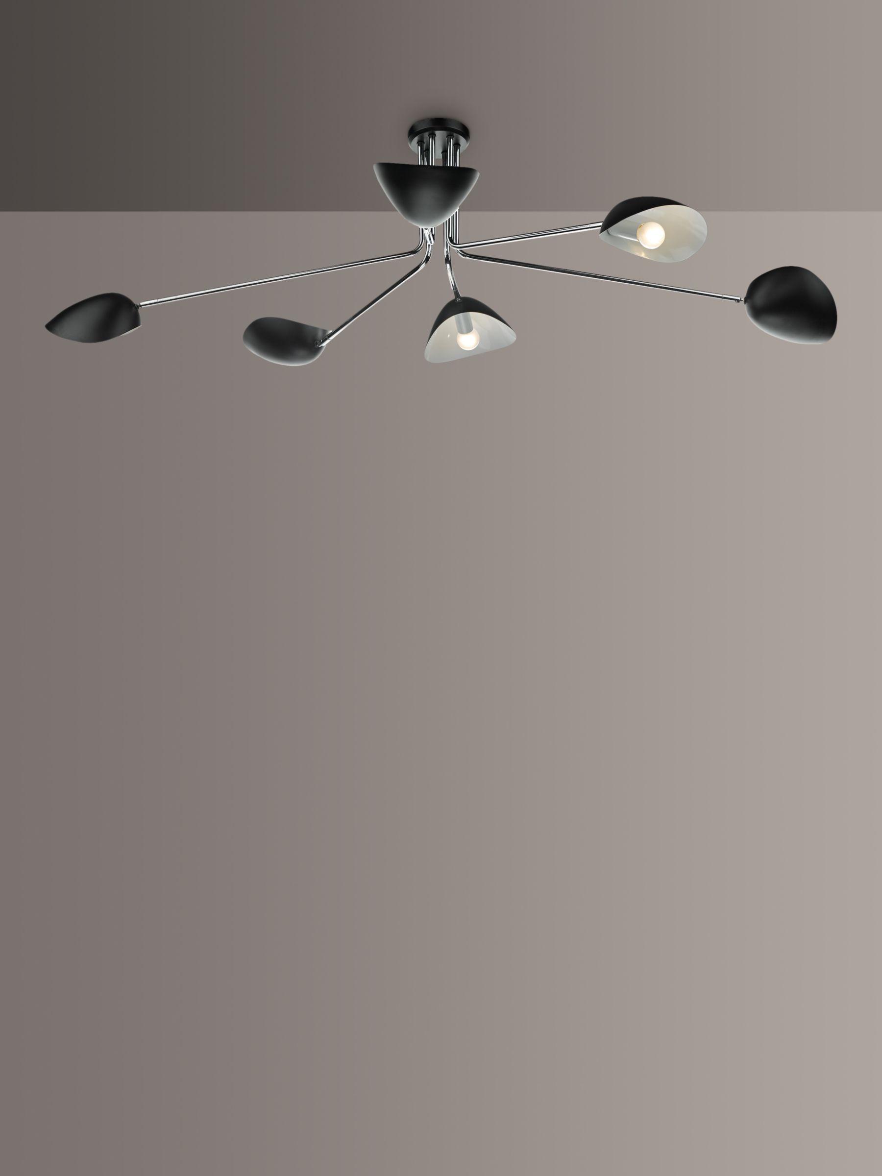 Dar Krug Large Semi Flush Ceiling Light Black At John Lewis Partners