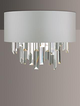 Där Halle Crystal Wall Light, Clear/Grey