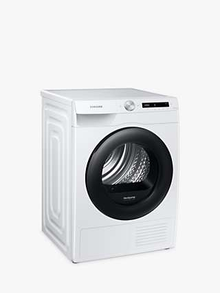 Samsung DV90T5240AW Heat Pump Freestanding Tumble Dryer, 9kg Load, A+++ Energy Rating, White