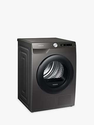 Samsung DV90T5240AN Heat Pump Tumble Dryer, 9kg Load, Graphite