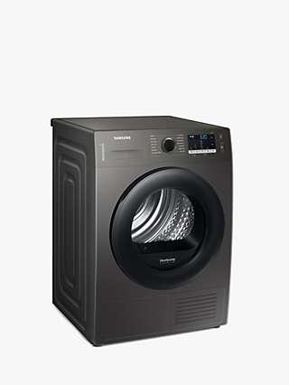 Samsung DV80TA020AX Heat Pump Tumble Dryer, 8kg Load, Graphite