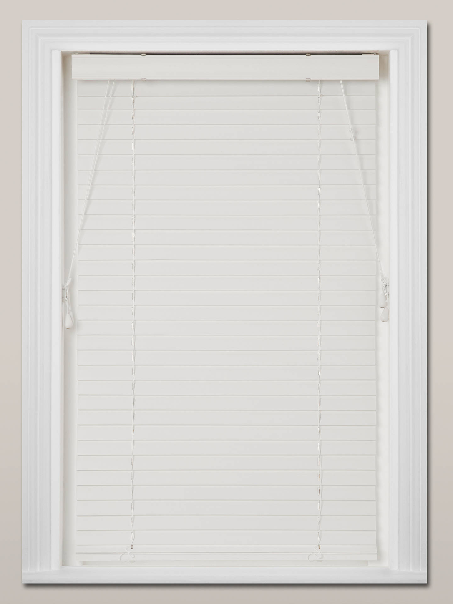 Buy John Lewis & Partners Made to Measure Faux Wood Venetian Blinds, White, 35mm Online at johnlewis.com