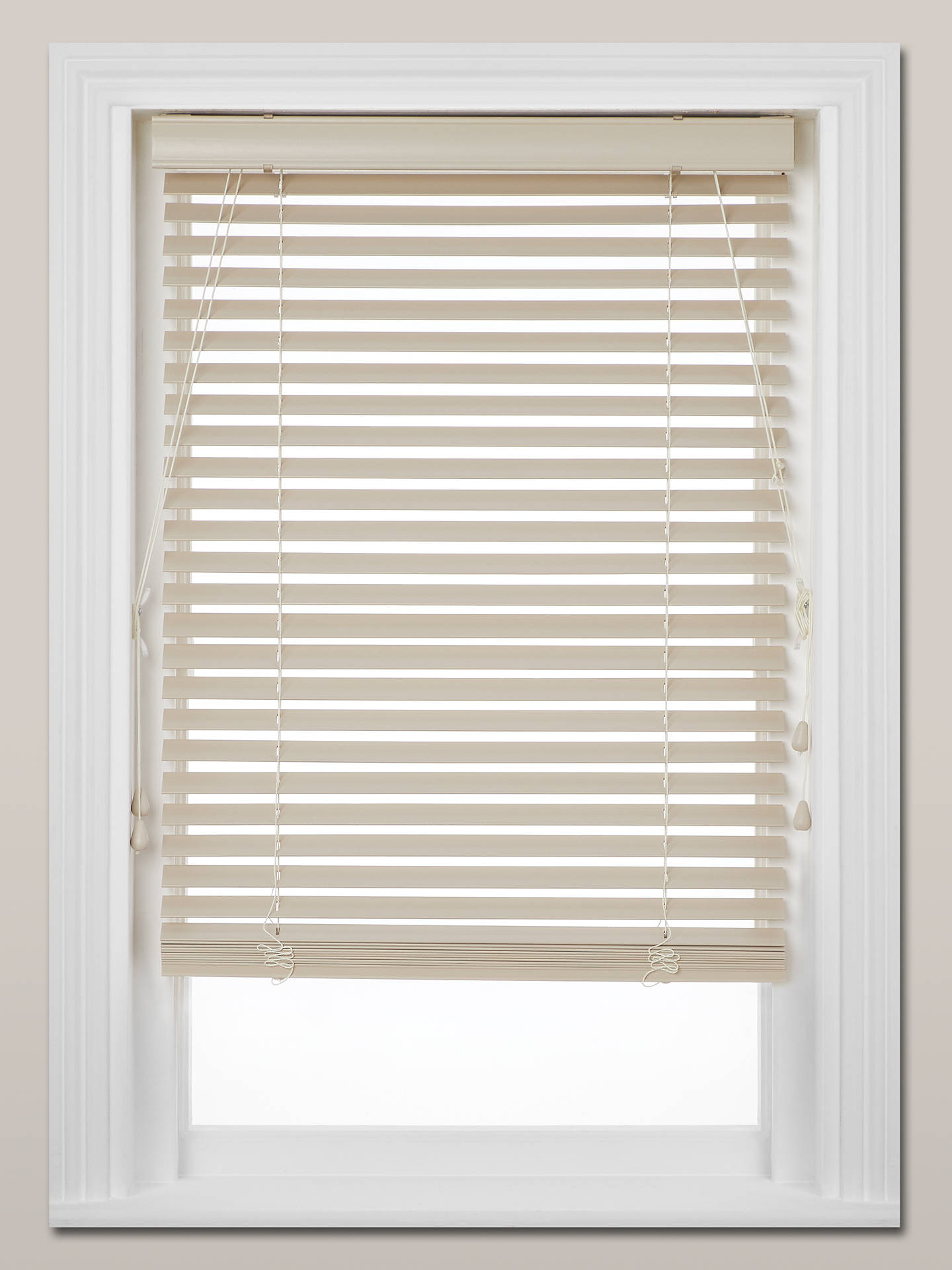 Buy John Lewis & Partners Made to Measure Faux Wood Venetian Blinds, Cream, 35mm Online at johnlewis.com