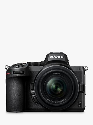 "Nikon Z5 Compact System Camera with 24-50mm Lens, 4K UHD, 24.3MP, Wi-Fi, Bluetooth, OLED EVF, 3.2"" Tiltable Touch Screen"