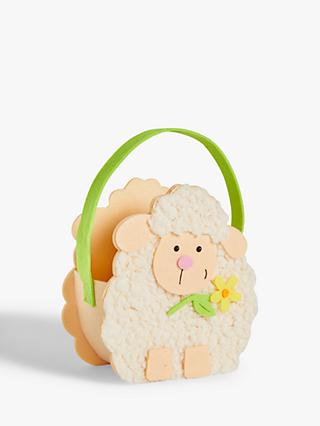 John Lewis & Partners Felt Sheep Easter Basket