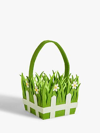 John Lewis & Partners Grass & Daisy Easter Basket
