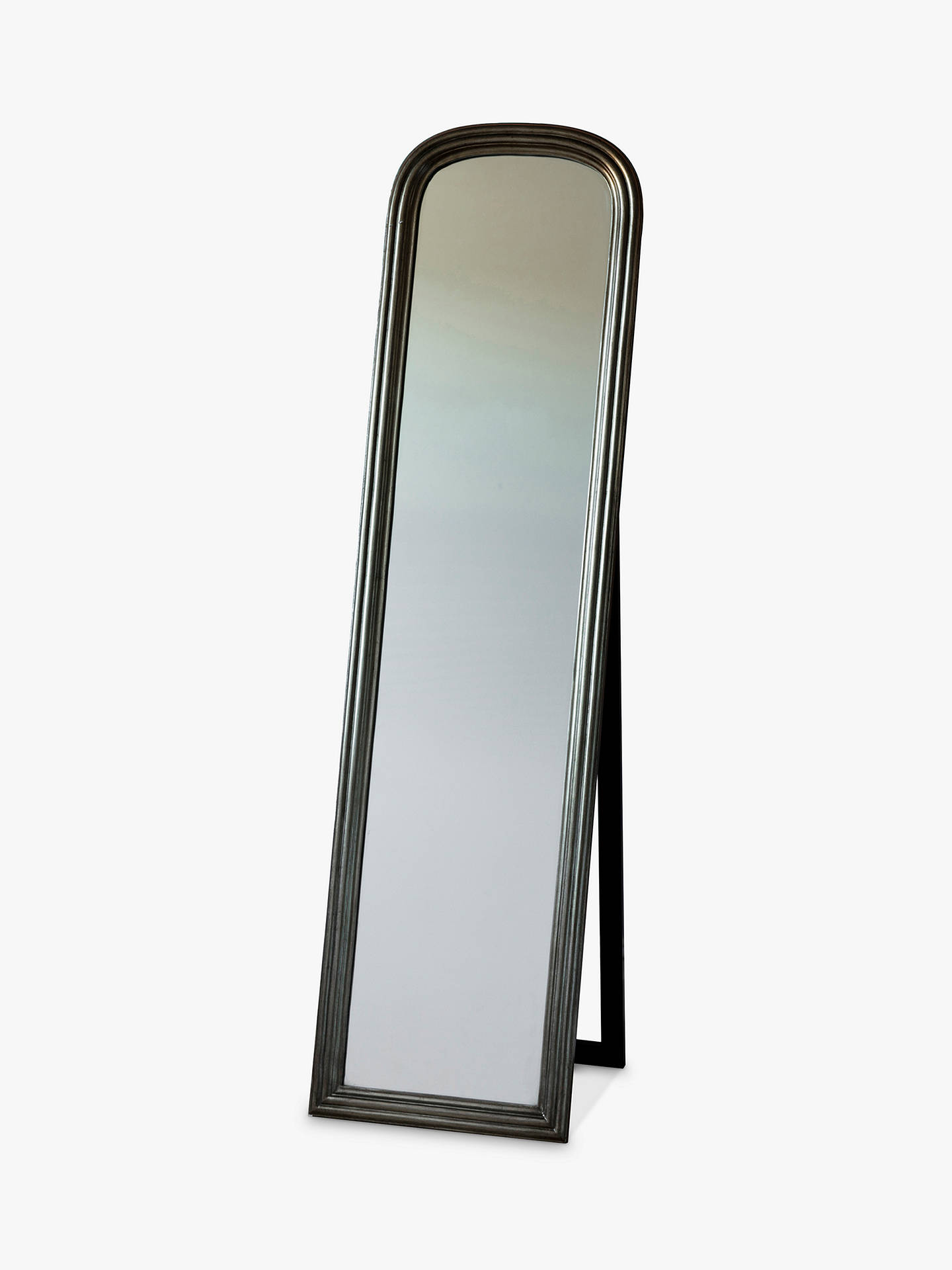 Buy Beck Cheval Mirror, 160 x 42cm, Brushed Brass Online at johnlewis.com