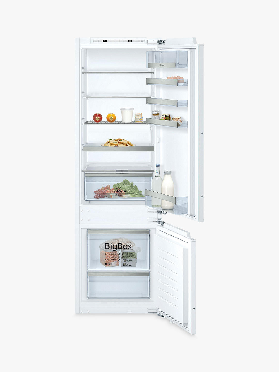Buy Neff KI6873FE0G Integrated 70/30 Fridge Freezer, A++ Energy Rating, 56cm Wide, White Online at johnlewis.com