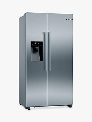 Bosch Serie 6 KAI93VIFPG Freestanding 70/30 American Fridge Freezer, Stainless Steel Effect