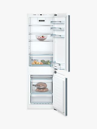 Bosch Serie 4 KIN86VFF0G Integrated 60/40 Fridge Freezer, 55cm Wide, White
