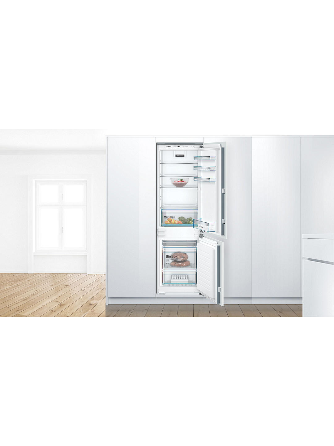 Buy Bosch Serie 4 KIN86VFF0G Integrated 60/40 Fridge Freezer, 55cm Wide, White Online at johnlewis.com