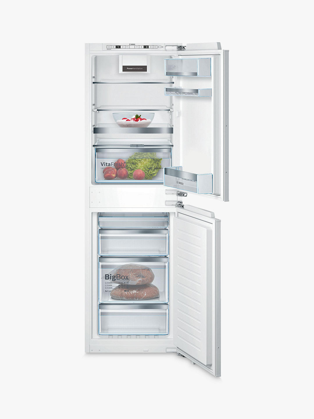 Buy Bosch Serie 6 KIN85AFE0G Integrated 50/50 Fridge Freezer Online at johnlewis.com