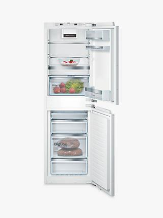 Bosch Serie 6 KIN85AFE0G Integrated 50/50 Fridge Freezer, 56cm Wide, White