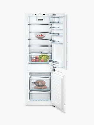 Bosch Serie 6 KIN86AFF0G Integrated 60/40 Fridge Freezer, 56cm Wide, White