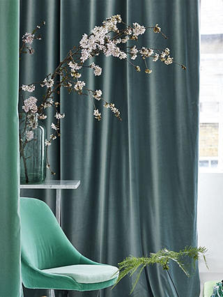 Buy Designers Guild Velluto Furnishing Fabric, Moss Online at johnlewis.com