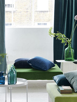 Buy Designers Guild Velluto Furnishing Fabric, Denim Online at johnlewis.com