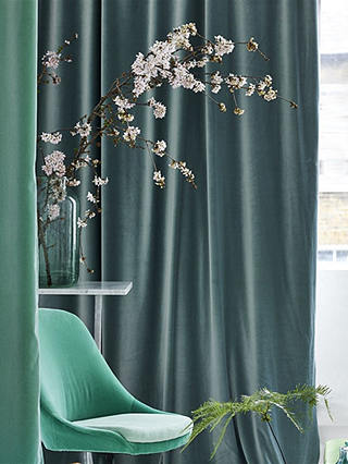 Buy Designers Guild Velluto Furnishing Fabric, Sea Online at johnlewis.com