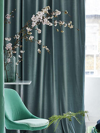 Buy Designers Guild Velluto Furnishing Fabric, Chalk Online at johnlewis.com