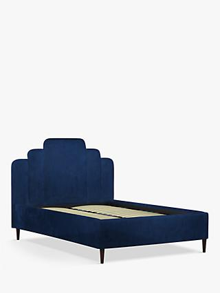 John Lewis & Partners Boutique Upholstered Bed Frame, Double, Opulence Royal Blue