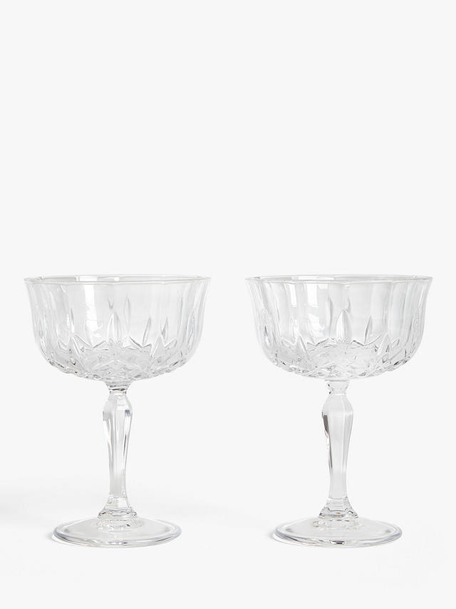 Buy ANYDAY John Lewis & Partners Paloma Opera Cut Crystal Glass Champagne Saucers, Set of 2, 245ml, Clear Online at johnlewis.com