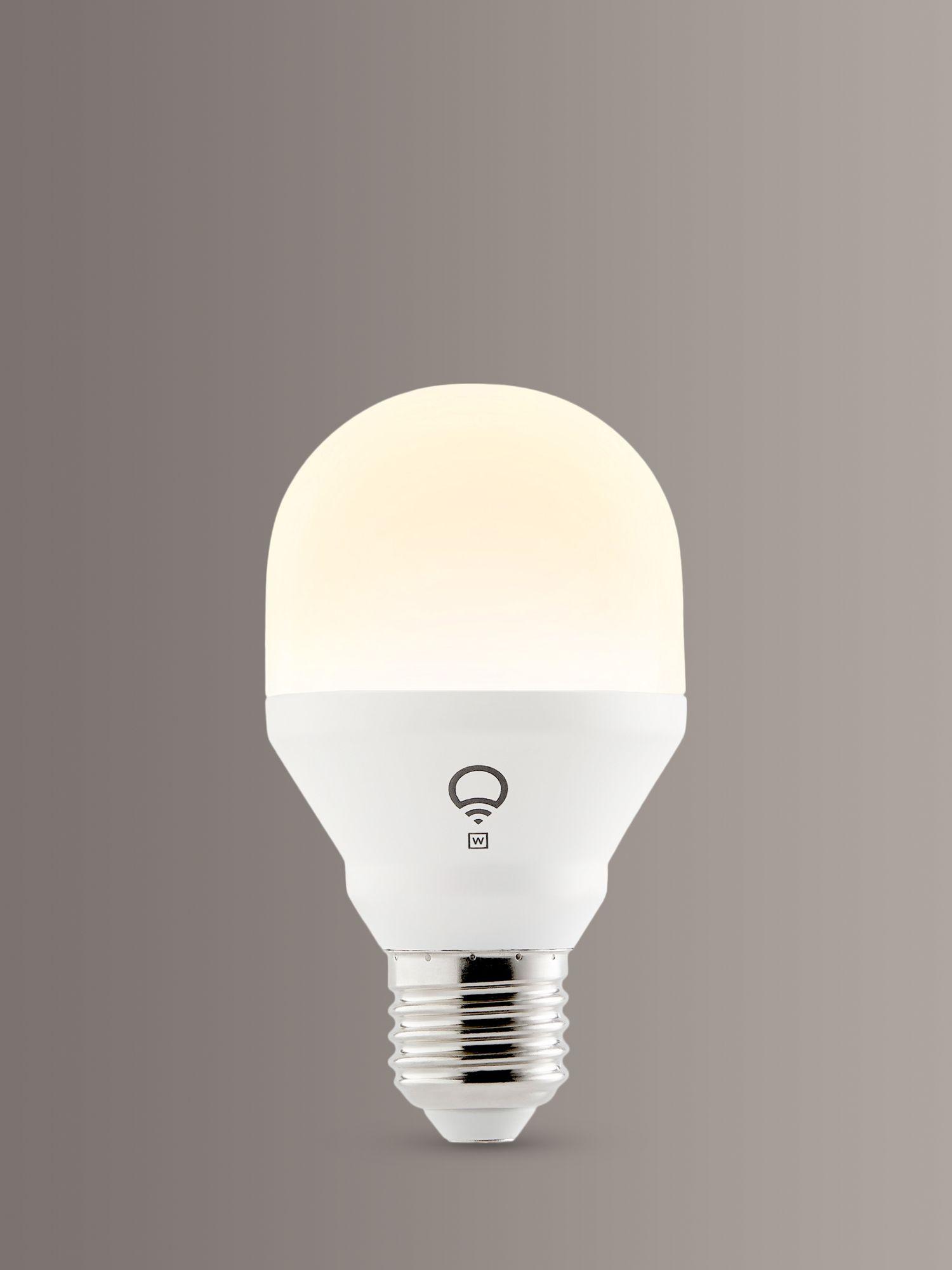 LIFX Mini White Wireless Smart Lighting LED Light Bulb, 9W A60 E27 Edison Screw Bulb, Single