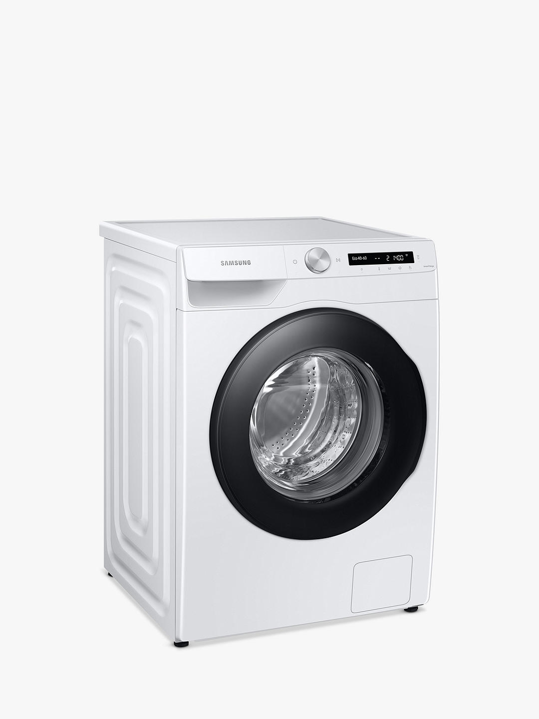 Buy Samsung Series 5+ WW90T534DAW Freestanding ecobubble™ Washing Machine, 9kg Load, 1400rpm Spin, White Online at johnlewis.com