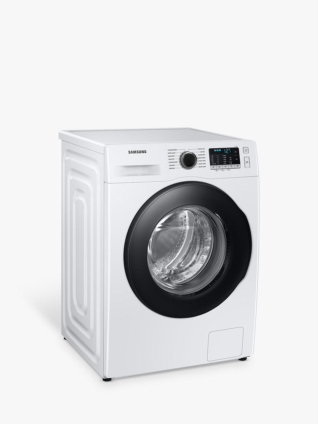Buy Samsung Series 5 WW80TA046AE Freestanding ecobubble™ Washing Machine, 8kg Load, 1400rpm Spin, White Online at johnlewis.com