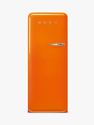 Smeg 50's Style FAB28L Freestanding Fridge with Ice Box, Left-Hand Hinge
