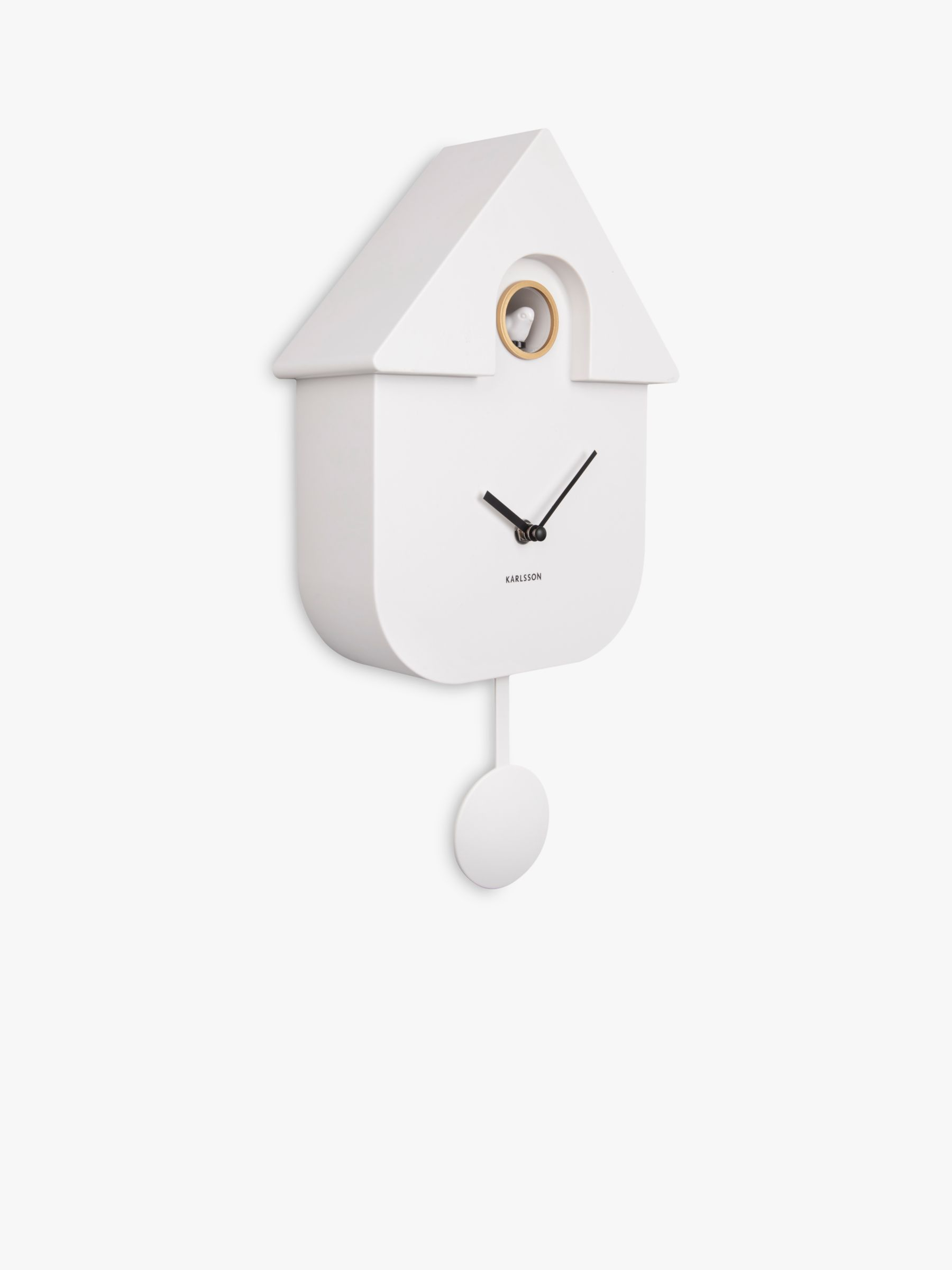 Karlsson Modern Tweeting Cuckoo Pendulum Wall Clock, 41cm