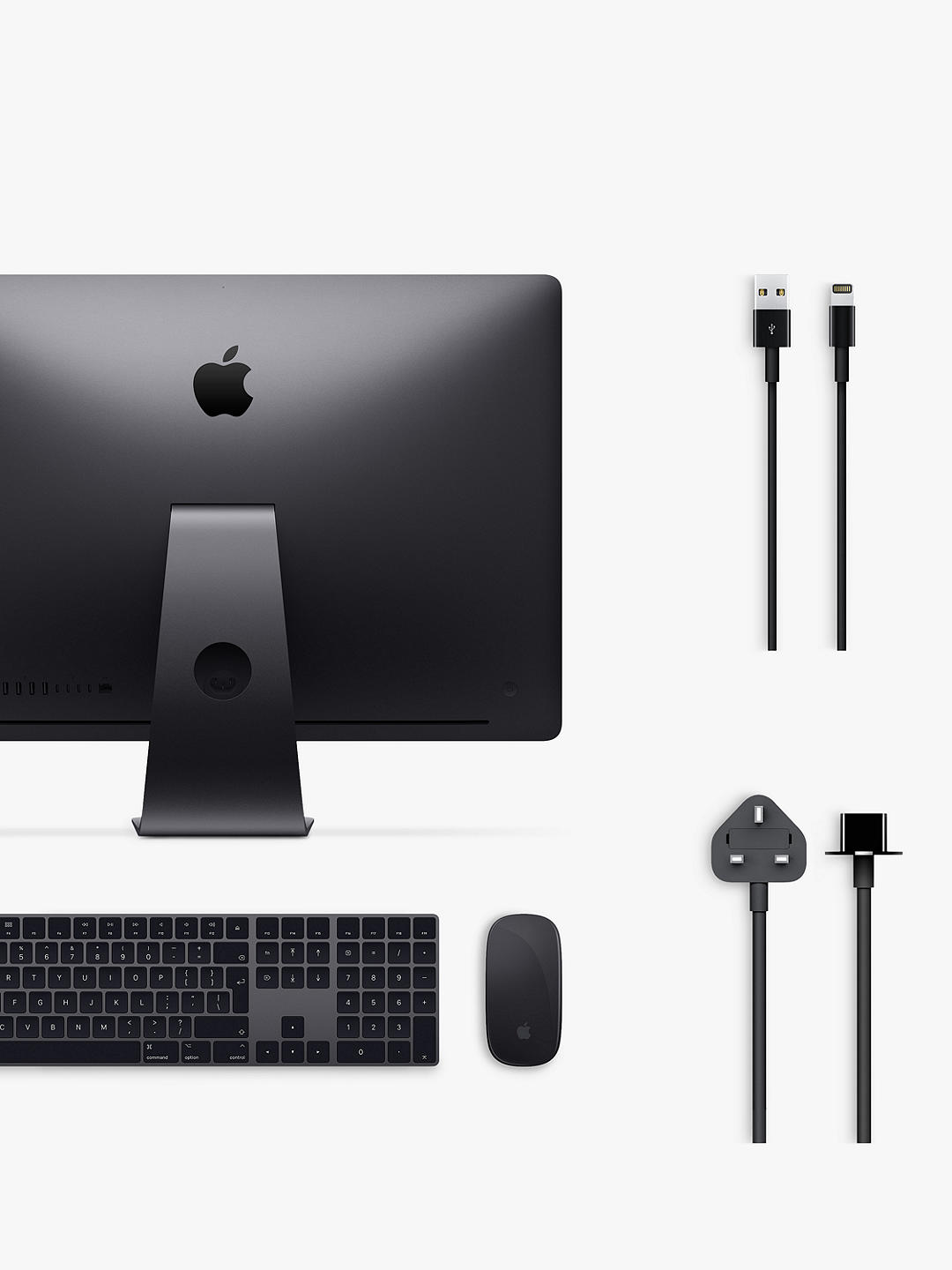 "Buy 2020 Apple iMac Pro 27 All-in-One, Intel Xeon W, 32GB RAM, 1TB SSD, Radeon Pro Vega 56, 27"" 5K Display, Space Grey Online at johnlewis.com"