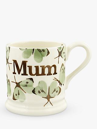 Emma Bridgewater Butterfly Mum Half Pint Mug, 280ml, Green