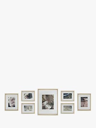 Gallery Perfect Wood-Effect Multi-aperture Deep Profile Box Photo Frame Set, 7 Photo, Natural