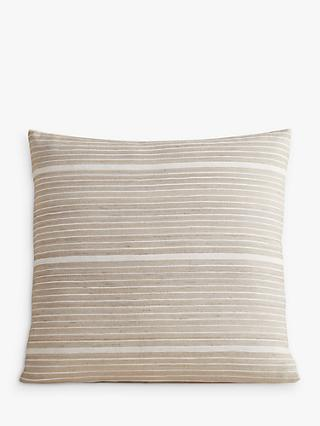 west elm Mini Stripe Cushion, Sand