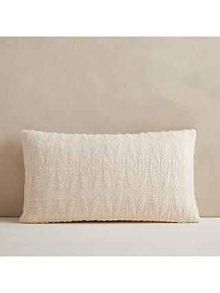 west elm Mariposa Lumbar Cushion, Natural