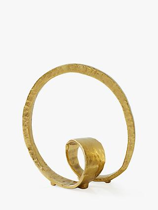 west elm Large Loop Ornament, Metallic Brass