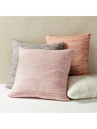 west elm Ombre Striped Cushion, Pink/Stone