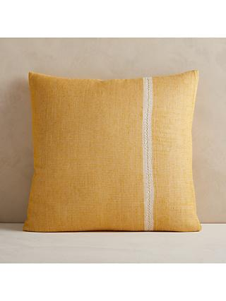 west elm Single Striped Cushion, Horseradish