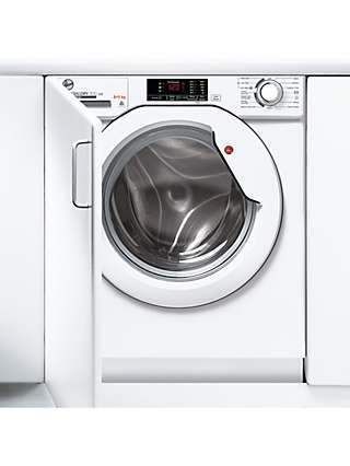 Hoover HBD 485D1E Integrated Washer Dryer, 8kg/5kg Load, 1400rpm Spin, White