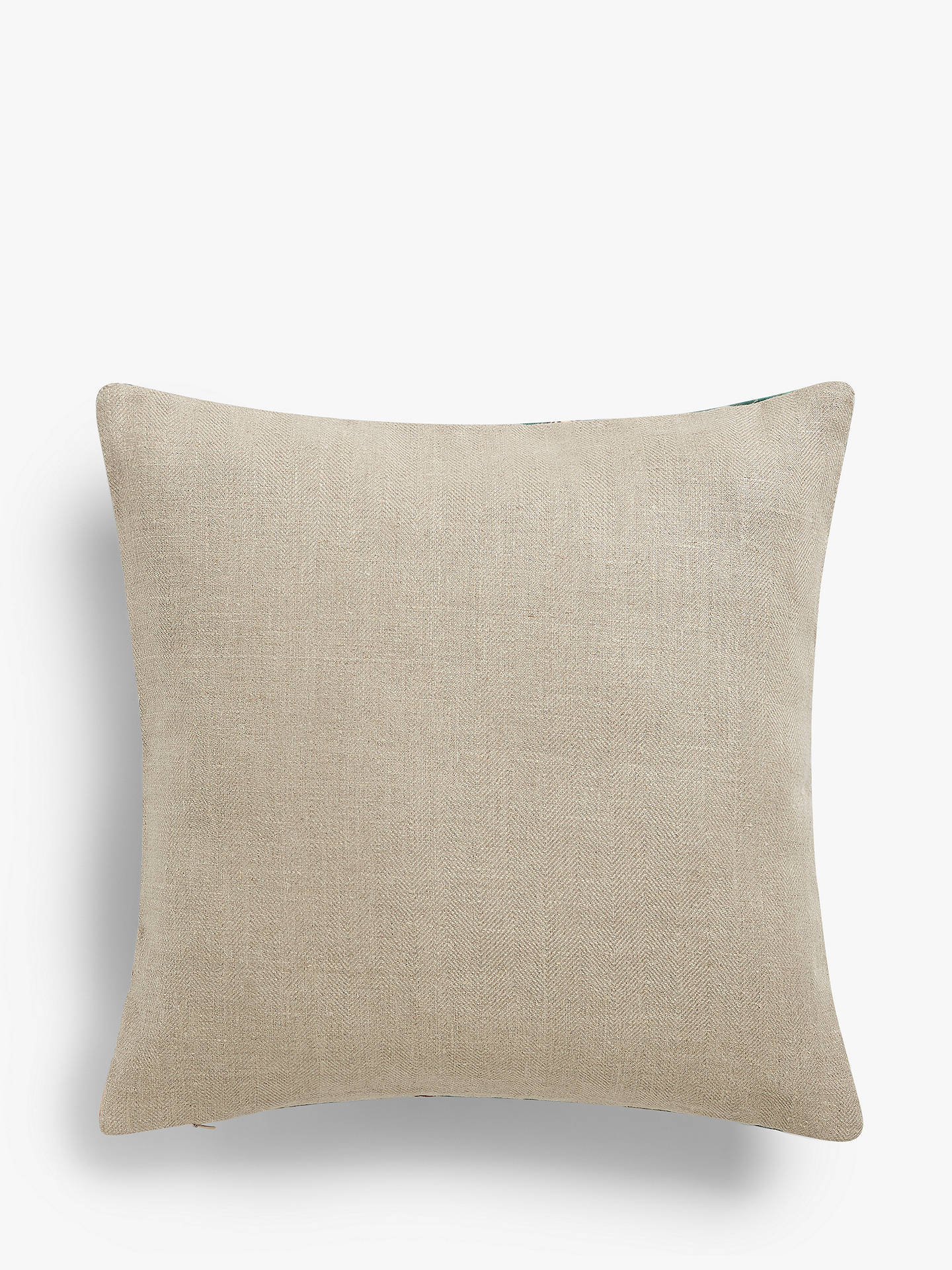 Buy Sanderson National Trust Summer Peony Velvet Cushion, Newby Green Online at johnlewis.com