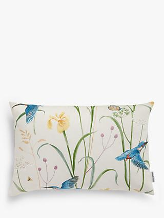 Sanderson National Trust Kingfisher Cushion, Azure / Linen