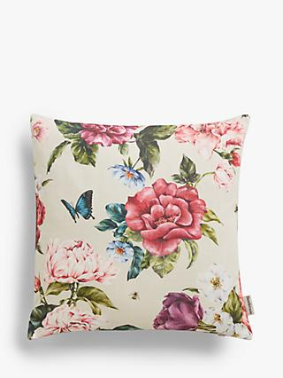 Sanderson National Trust Summer Peony Cushion, Rose