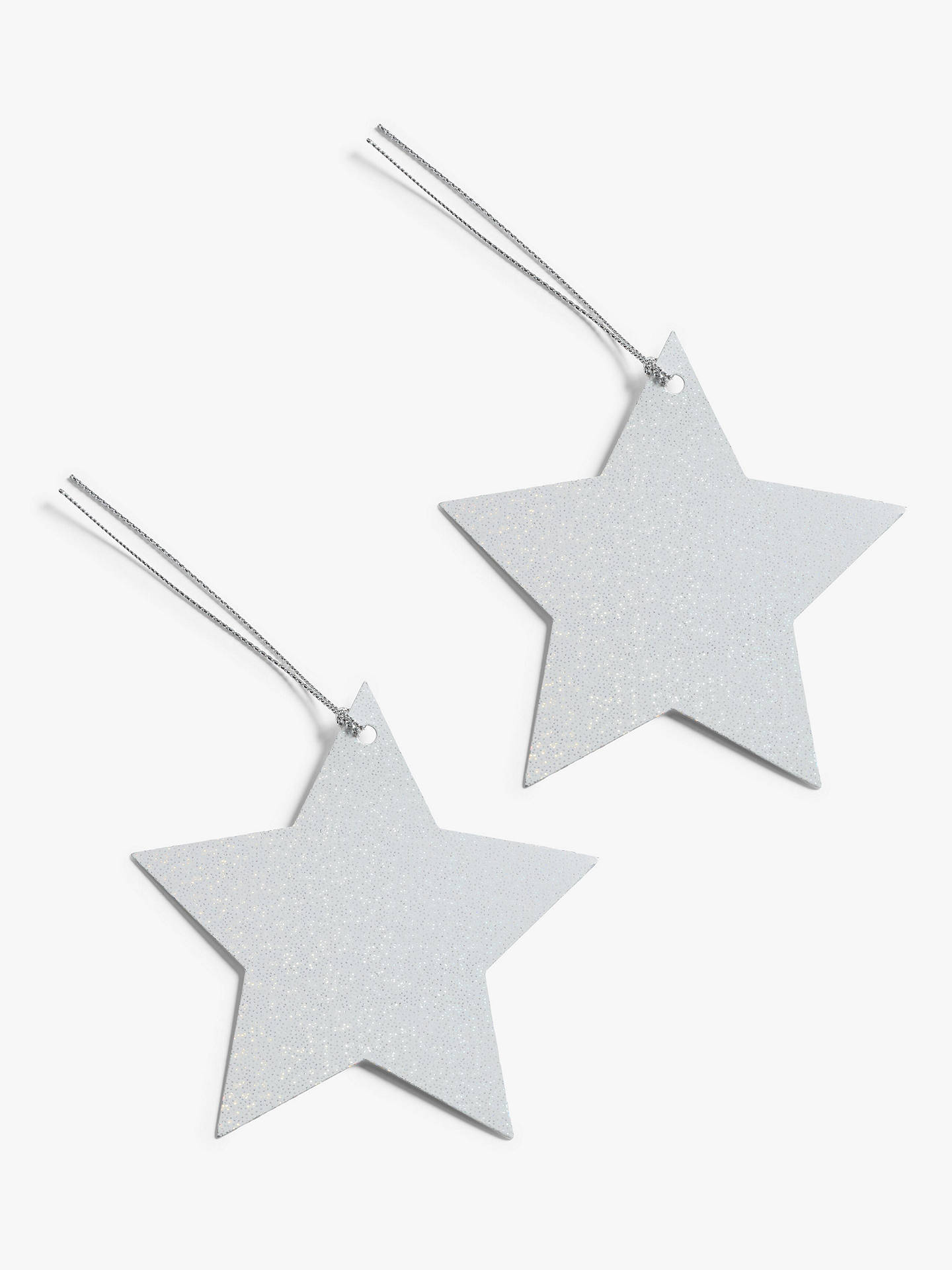 Buy John Lewis & Partners Impressionism Star Gift Tags, Pack of 10, Silver, bundle of 2 Online at johnlewis.com