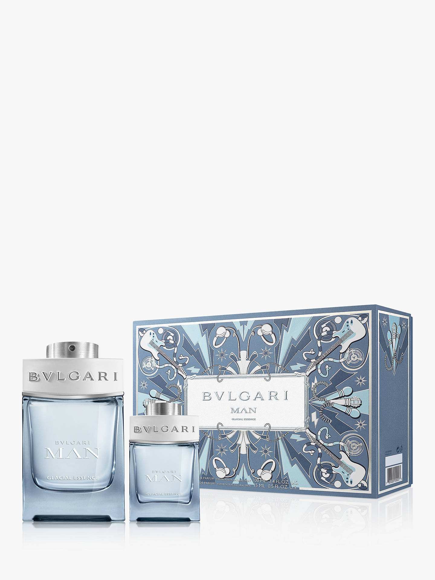 Buy BVLGARI Man Glacial Essence Eau de Parfum 100ml Fragrance Gift Set Online at johnlewis.com