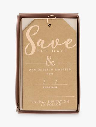 John Lewis & Partners Kraft Save The Dates, Pack of 10