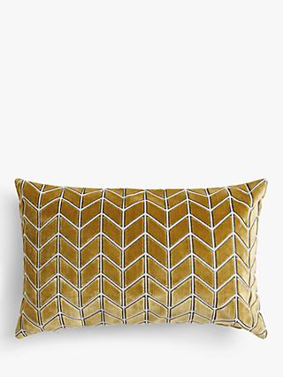 Harlequin Perplex Cushion, Ochre