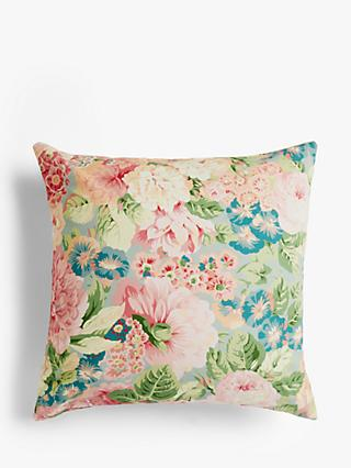 Sanderson Rose & Peony Cushion, Raspberry