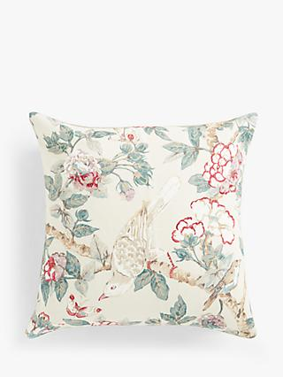 Sanderson Calverley Rose Cushion, Pewter