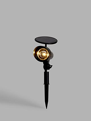 John Lewis & Partners Solar LED Outdoor Stake Light, Black